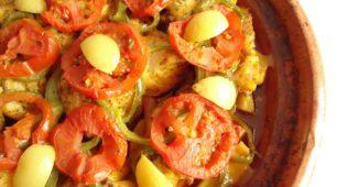 Pomme de terre tomate poisson