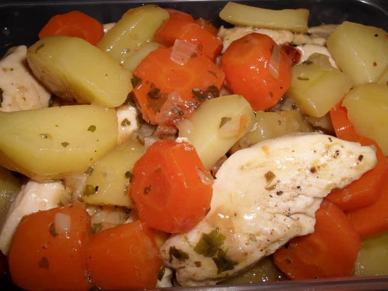 Courgette, patate, poireaux